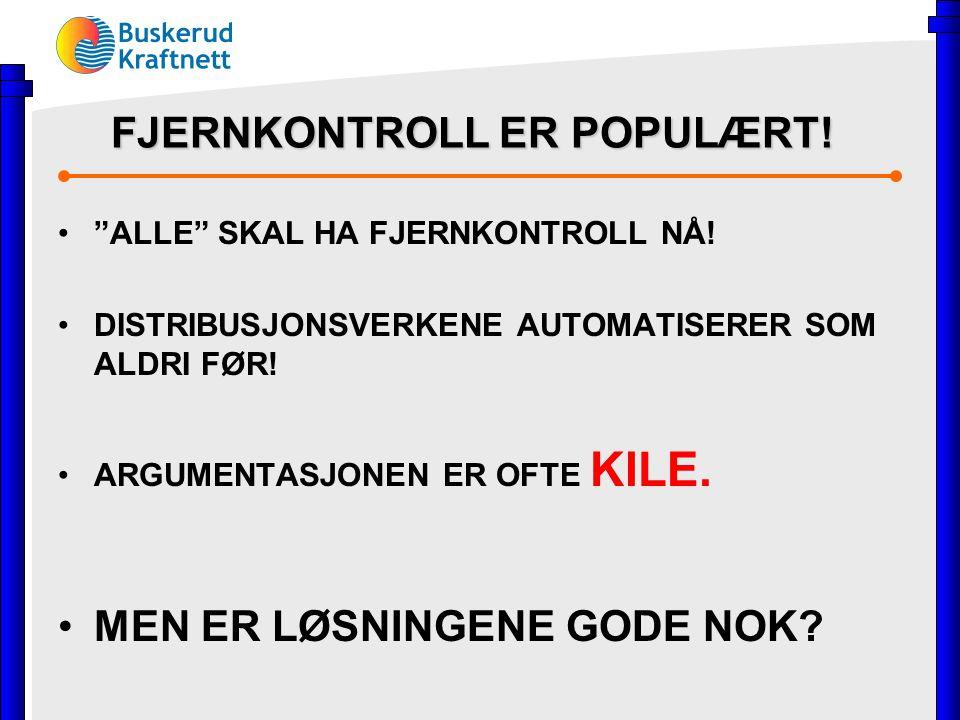 FJERNKONTROLL ER POPULÆRT. ALLE SKAL HA FJERNKONTROLL NÅ.