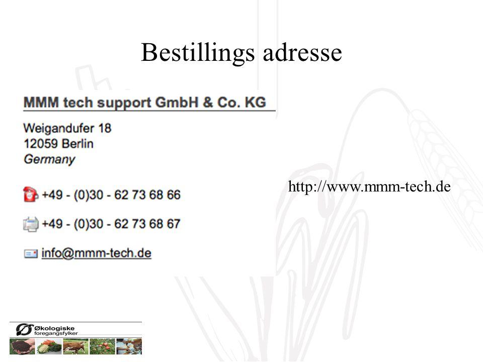 Bestillings adresse http://www.mmm-tech.de