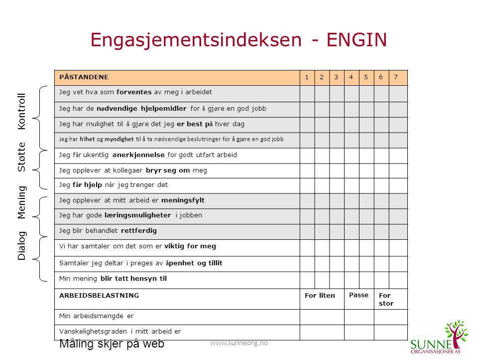 www.sunneorg.no ENGIN følger opp på alle 4 nivåer 3.