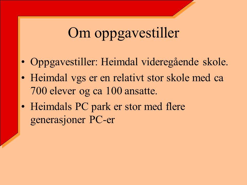 Om oppgavestiller Oppgavestiller: Heimdal videregående skole.