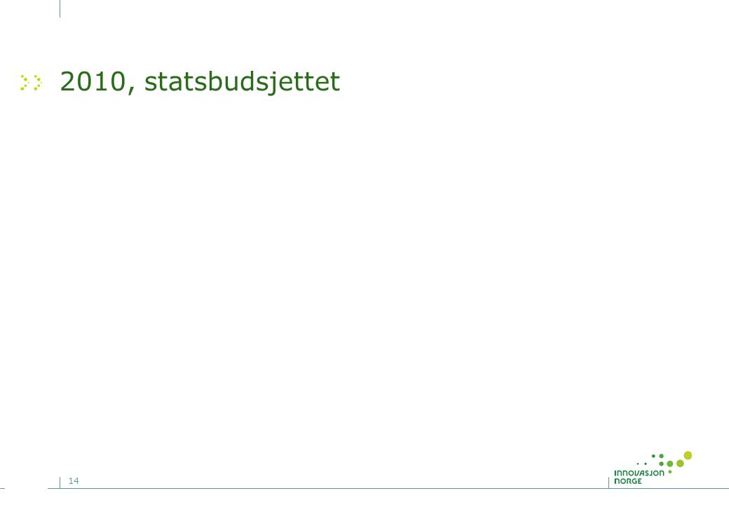 14 2010, statsbudsjettet