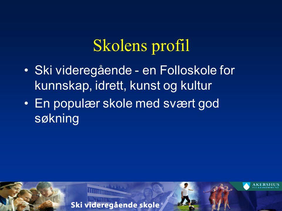 Skolens profil Ski videregående - en Folloskole for kunnskap, idrett, kunst og kultur En populær skole med svært god søkning