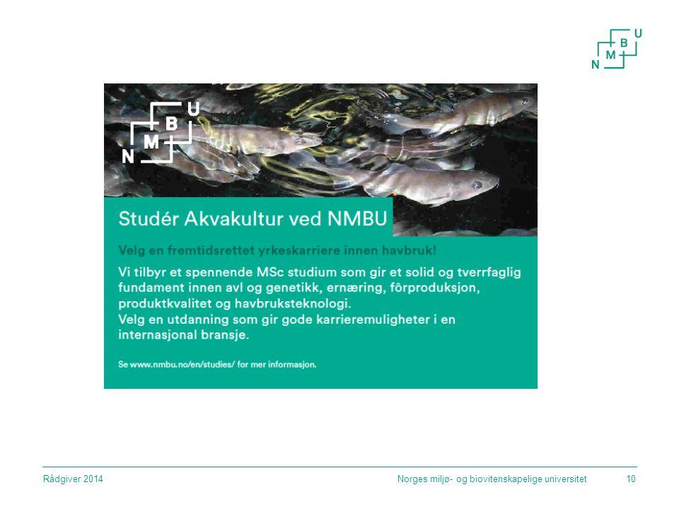 Norges miljø- og biovitenskapelige universitetRådgiver 201410