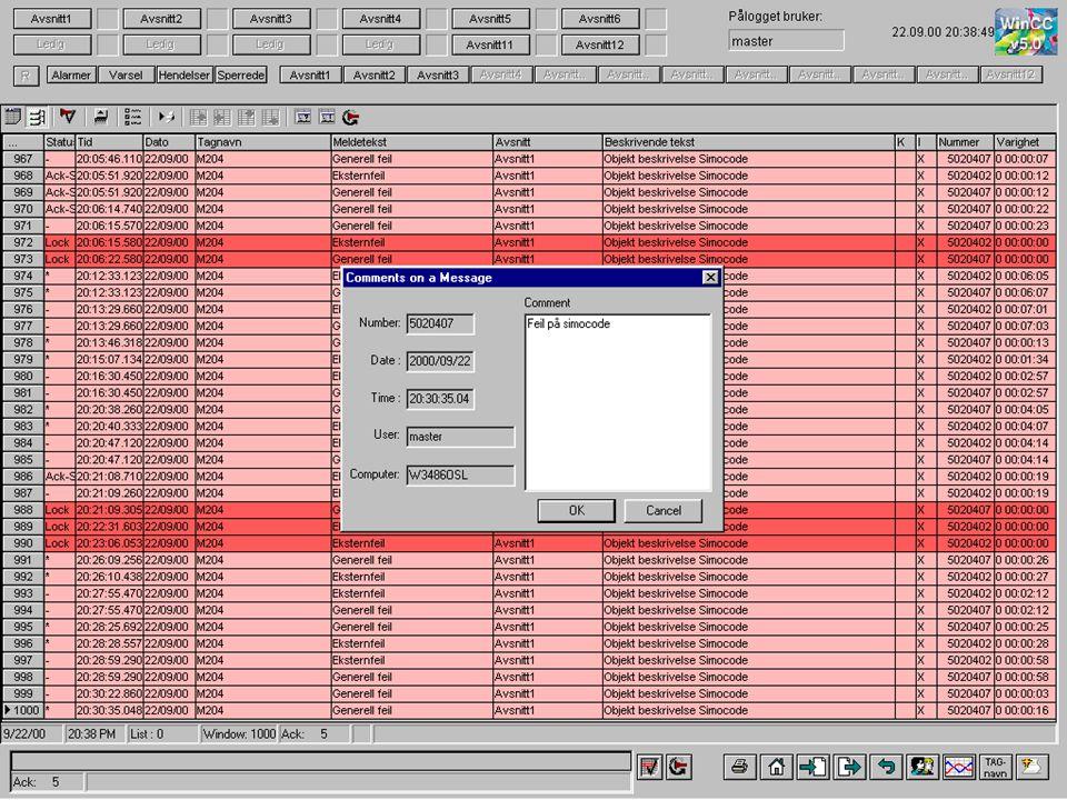 Langtidsarkiv kommentar til alarm II