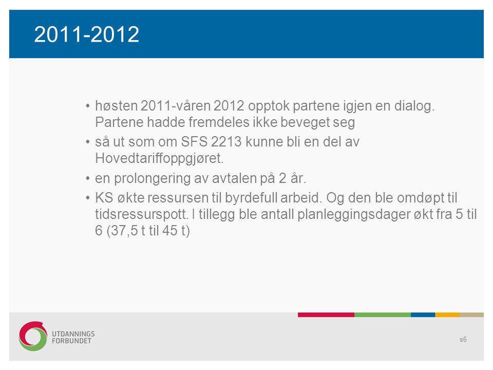 2011-2012 høsten 2011-våren 2012 opptok partene igjen en dialog.
