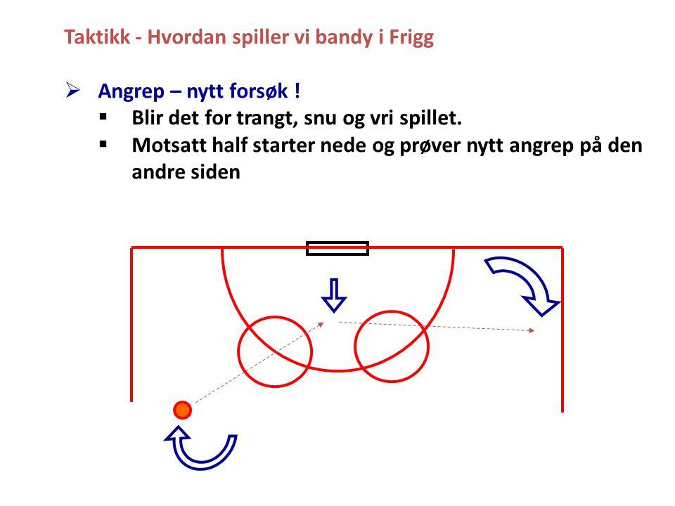 Taktikk - Hvordan spiller vi bandy i Frigg  Angrep – nytt forsøk .