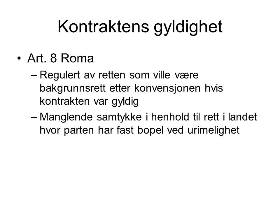 Lovvalg i arbeidsrett Ikke særskilt lovvalgsregel i norsk IPR –Rt.