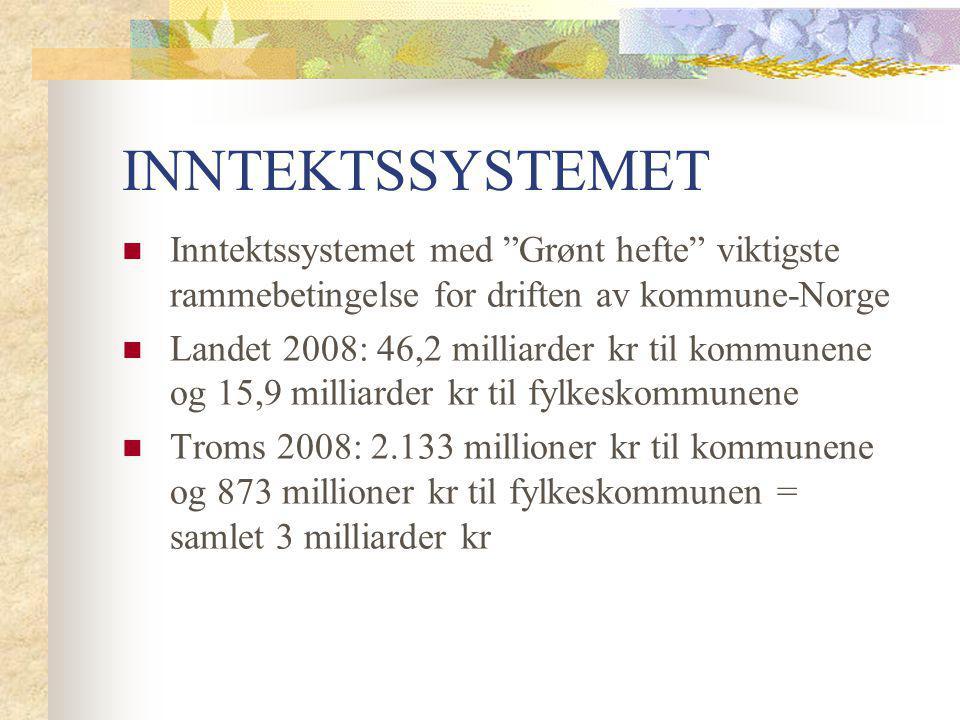 """INNTEKTSSYSTEMET Inntektssystemet med """"Grønt hefte"""" viktigste rammebetingelse for driften av kommune-Norge Landet 2008: 46,2 milliarder kr til kommune"""