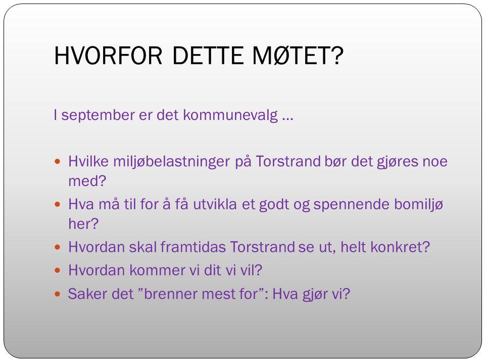 HVORFOR DETTE MØTET.