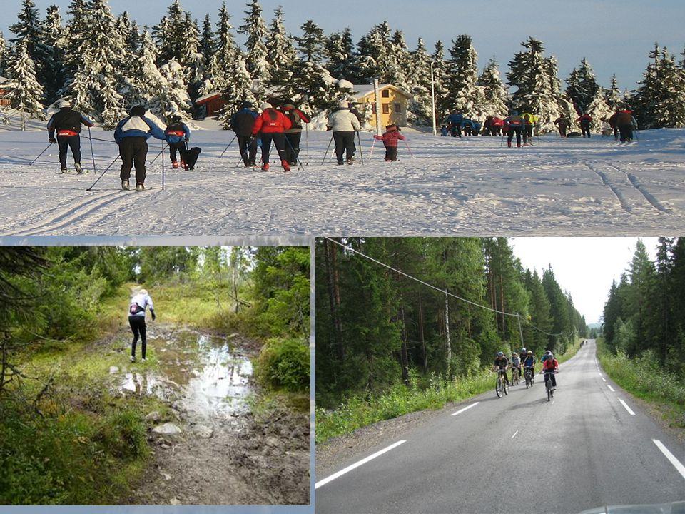 Bilde sykkel, ski, sti (gjørme), merking
