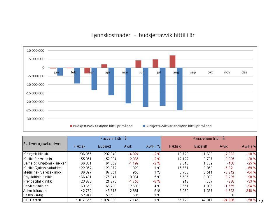 Lønnskostnader - budsjettavvik hittil i år 18 4. Bemanning
