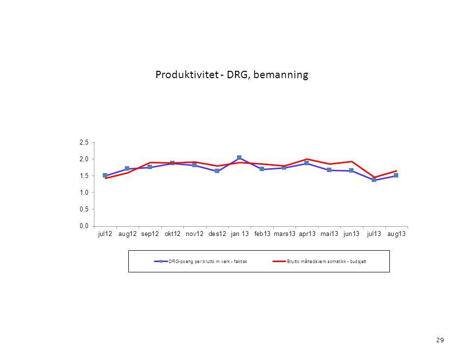 Produktivitet - DRG, bemanning 29 5. Aktivitet