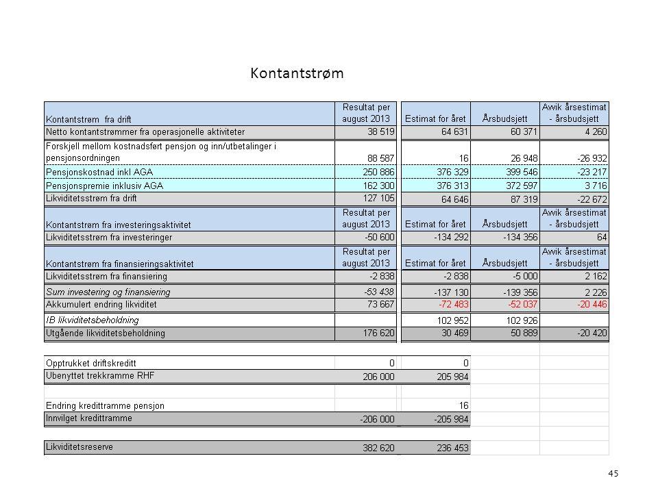 Kontantstrøm 6. Økonomi 45