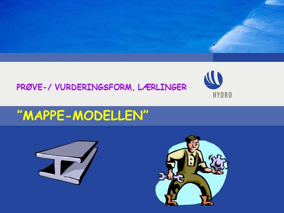 MAPPE-MODELLEN PRØVE-/ VURDERINGSFORM, LÆRLINGER