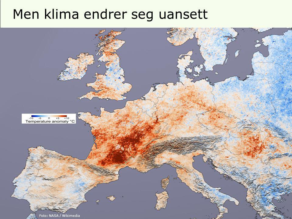 15 Men klima endrer seg uansett Foto: MiljøverndepartementetFoto: Photo by Tom Corser / WikimediaFoto: NASA / Wikimedia