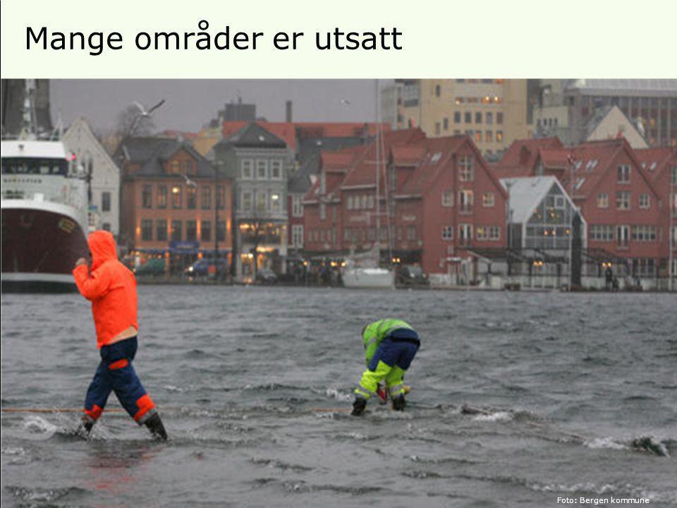 18 Mange områder er utsatt Foto: Bergen kommune