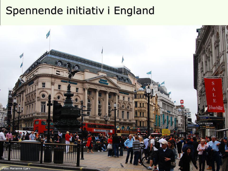 23 Spennende initiativ i England Foto: Marianne Gjørv