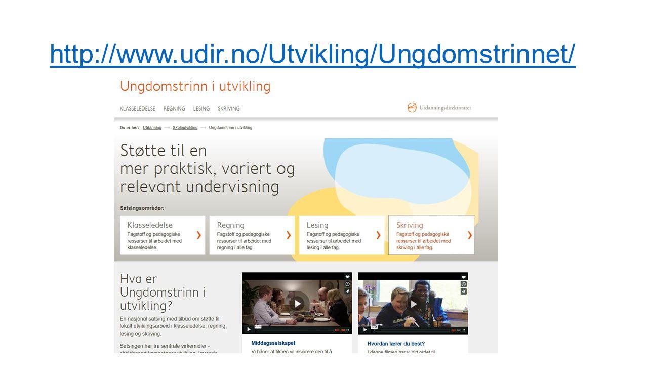 http://www.udir.no/Utvikling/Ungdomstrinnet/