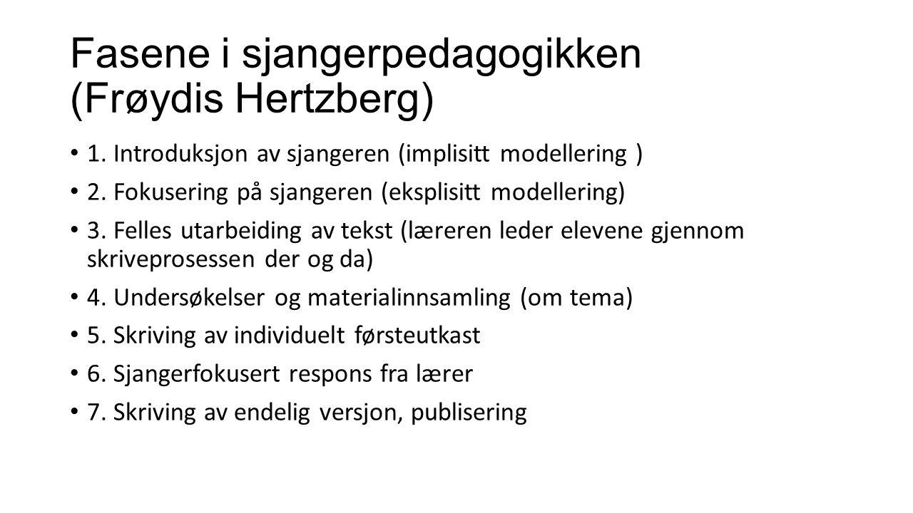 Fasene i sjangerpedagogikken (Frøydis Hertzberg) 1.