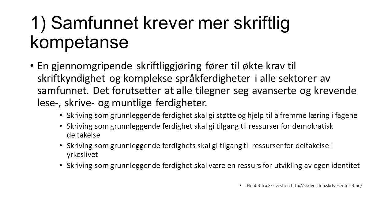 SKRIV-prosjektet Ledet av Jon Smidt – ville undersøke skriveopplæringen som ble gitt i norske klasserom etter Kunnskapsløftet.