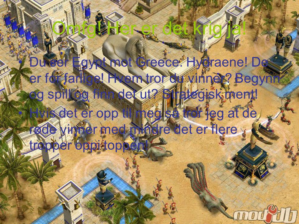 Her er det krig mellom norse og Greece!! Ekk hjelp dem! De skal flykte heldigvis så ingen fare!!