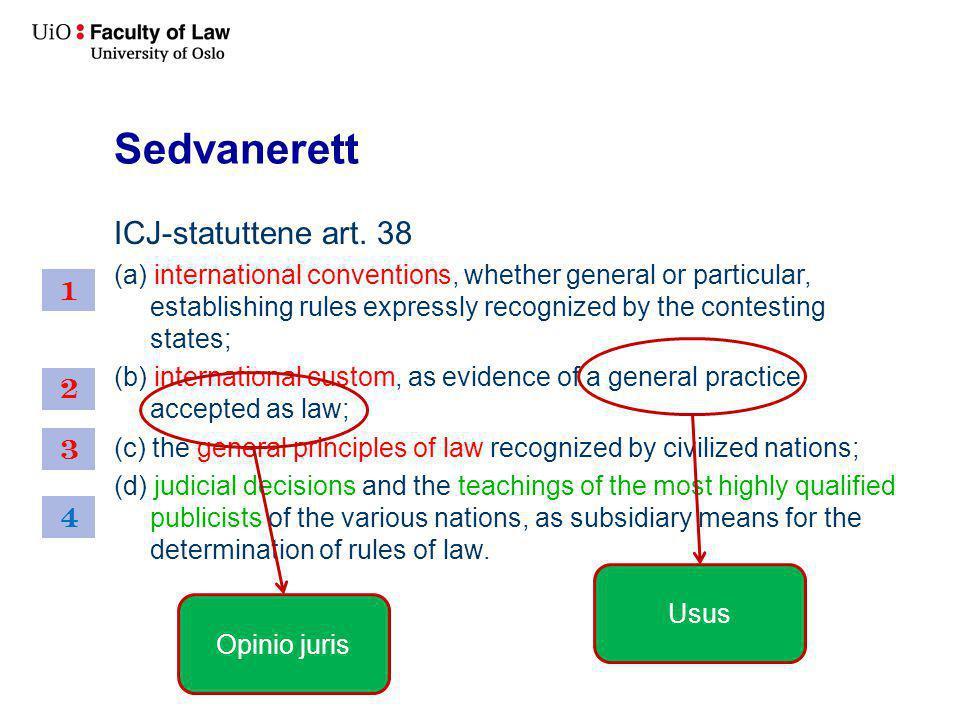 Sedvanerett ICJ-statuttene art.