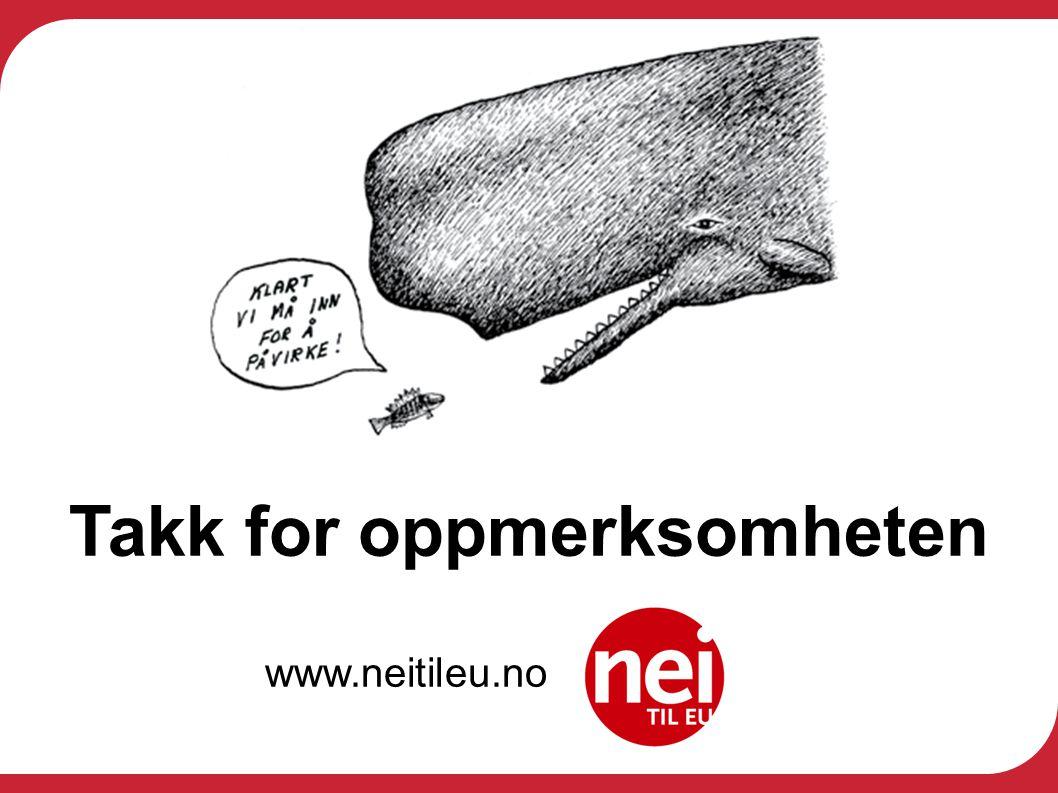 Takk for oppmerksomheten www.neitileu.no