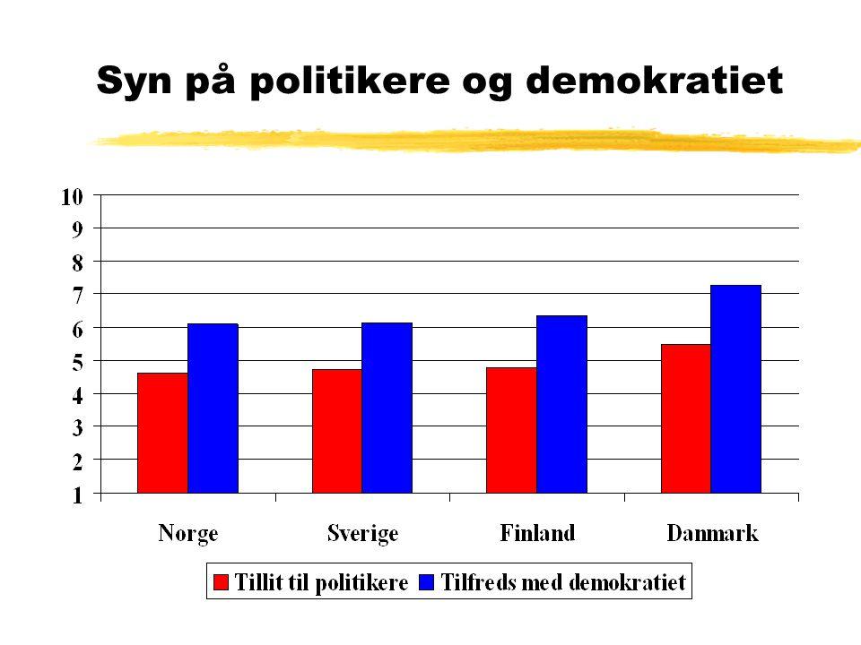 Syn på politikere og demokratiet