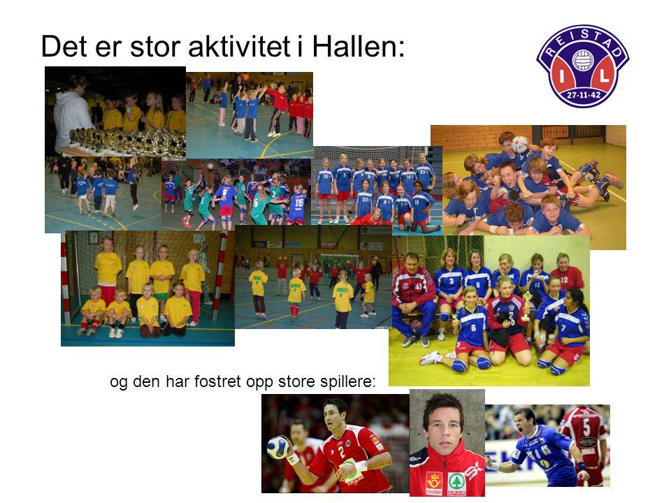 Det er stor aktivitet i Hallen: og den har fostret opp store spillere: