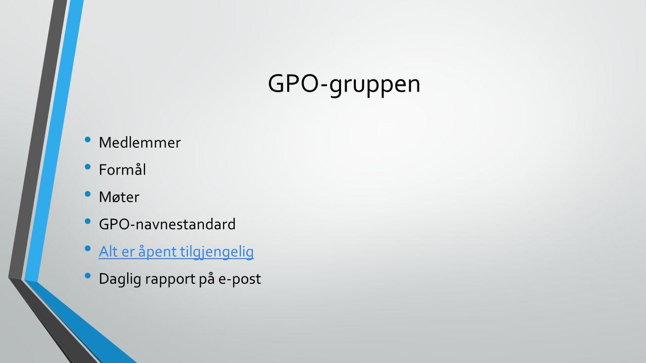Kontakt GPO-gruppen Chat: windows-core@conference.chat.uio.no E-post: ad-core@usit.uio.noad-core@usit.uio.no RT: usit-ad-drift RT e-post: ad-drift@usit.uio.noad-drift@usit.uio.no