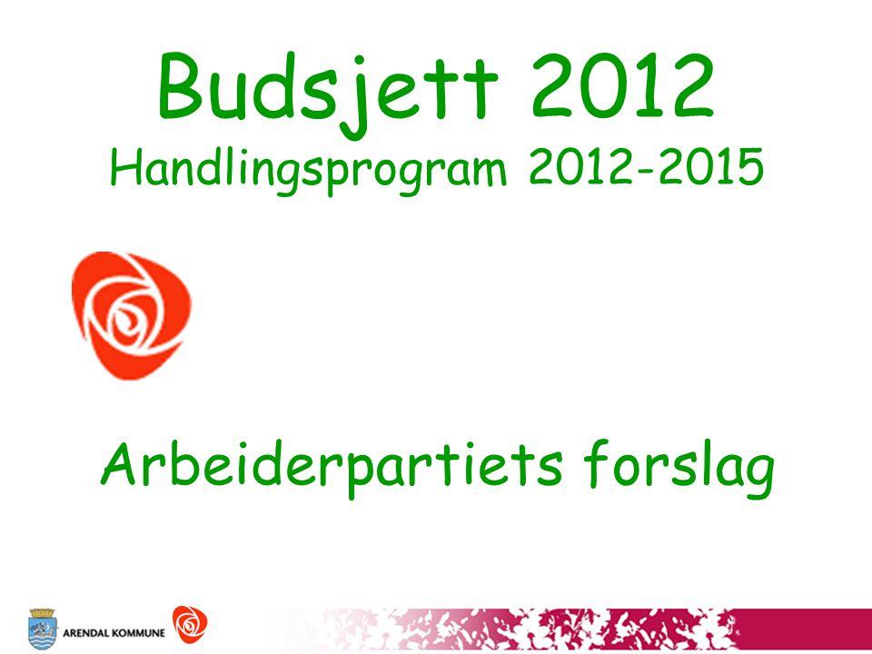 1 Budsjett 2012 Handlingsprogram 2012-2015 Arbeiderpartiets forslag