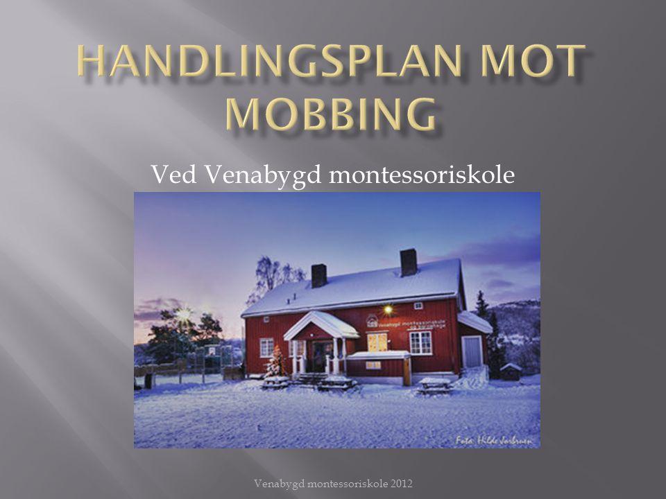 Arbeidet mot mobbing er viktig og må være en selvsagt del av det daglige arbeidet.