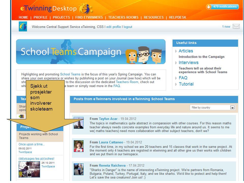 Sjekk ut prosjekter som involverer skoleteam