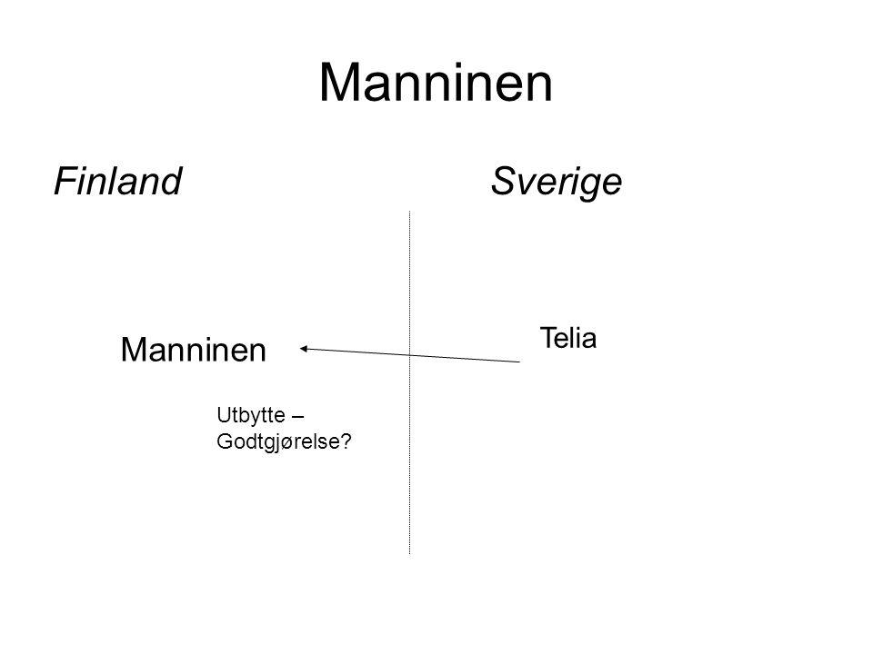 Manninen FinlandSverige Manninen Telia Utbytte – Godtgjørelse