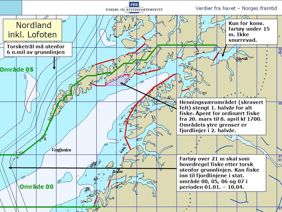 Nordland Torsketrål utenfor 6 n.mil av grunnlinjen.