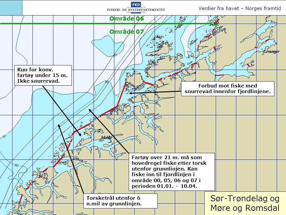 Henningsværområdet (skravert felt) stengt 1.halvår for alt fiske.