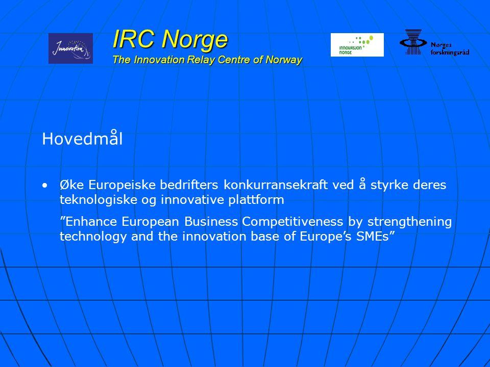 """Hovedmål Øke Europeiske bedrifters konkurransekraft ved å styrke deres teknologiske og innovative plattform """"Enhance European Business Competitiveness"""