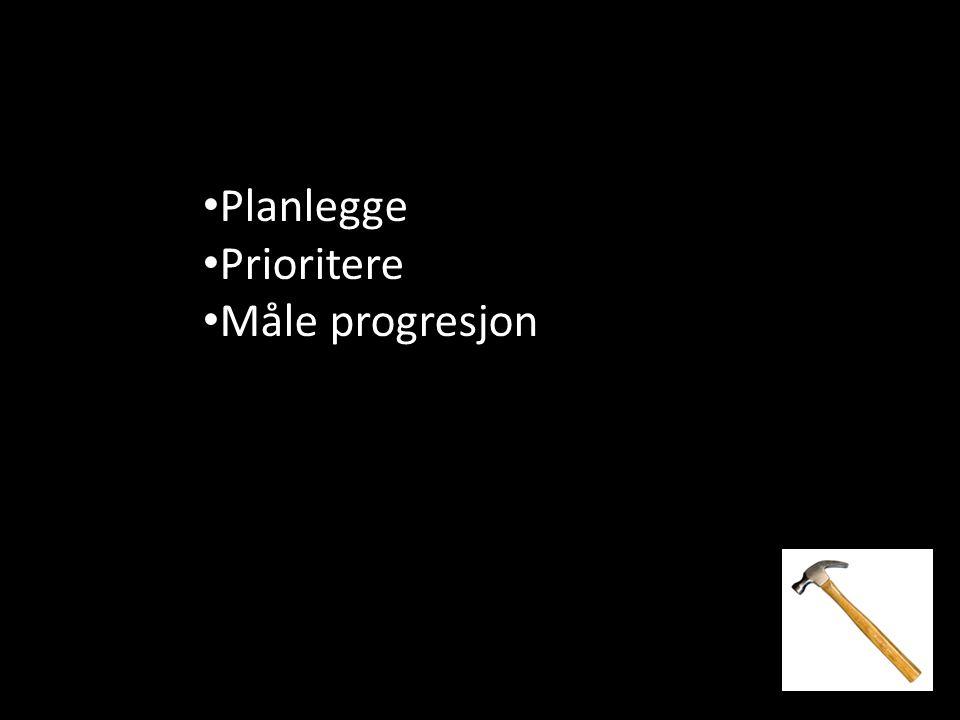 Planlegge Prioritere Måle progresjon