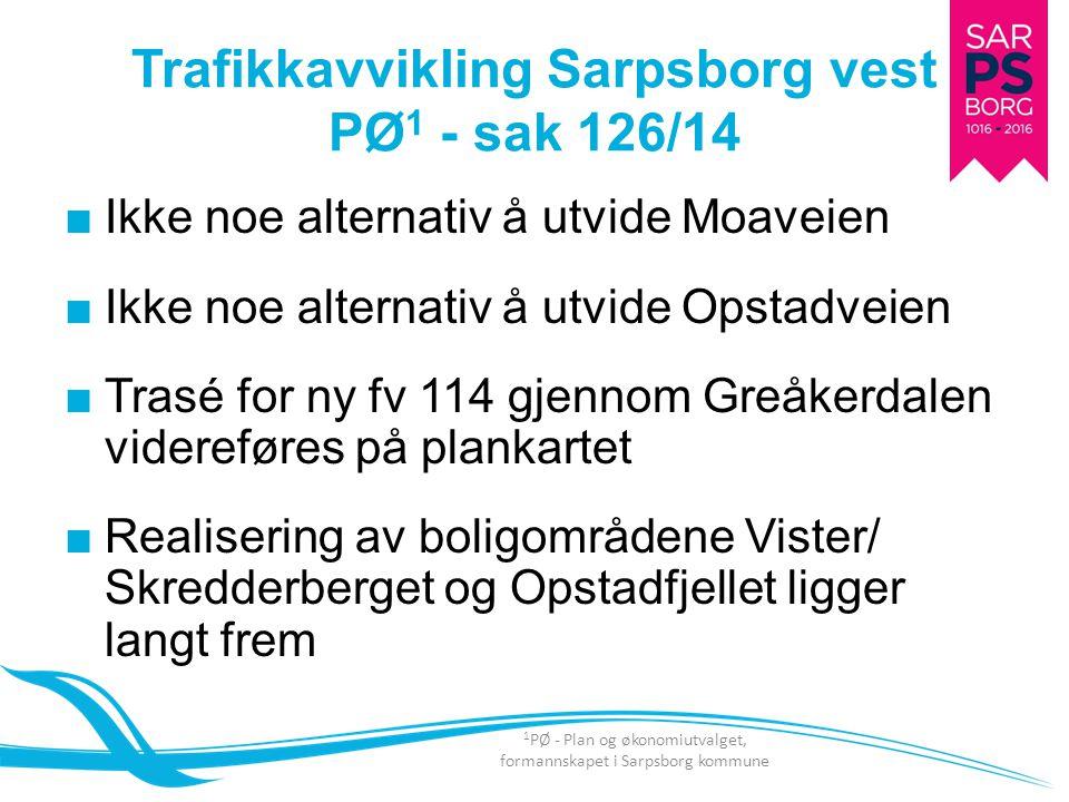 ■Ikke noe alternativ å utvide Moaveien ■Ikke noe alternativ å utvide Opstadveien ■Trasé for ny fv 114 gjennom Greåkerdalen videreføres på plankartet ■