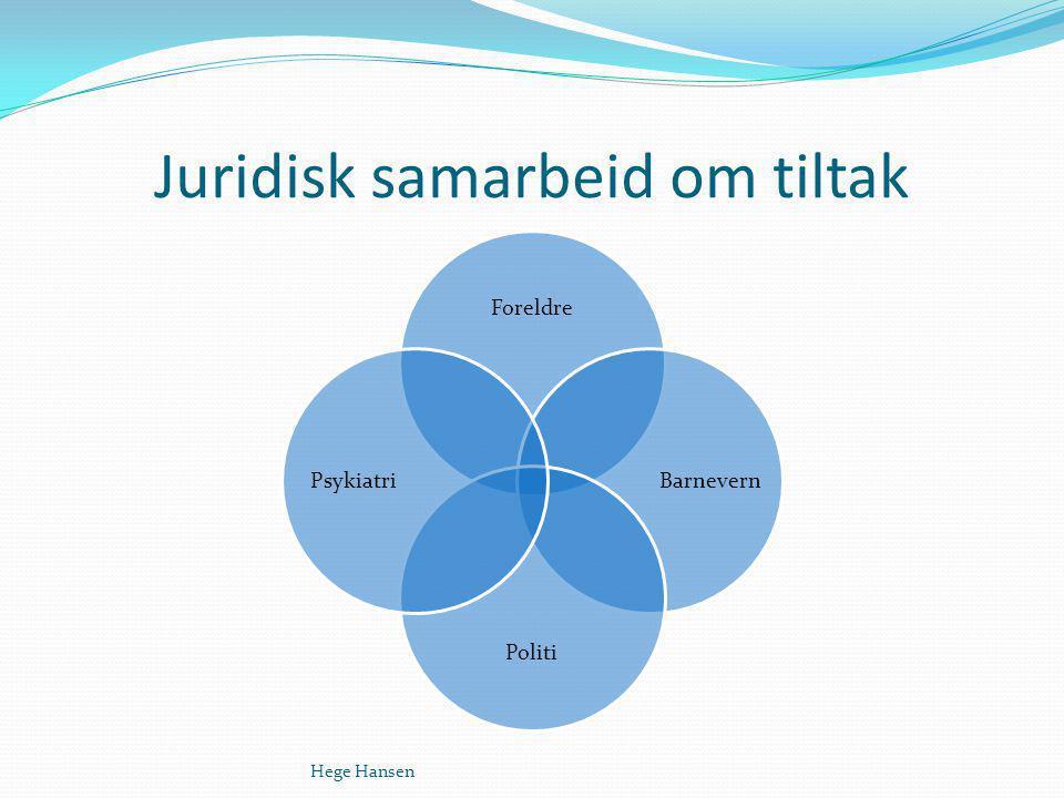 Juridisk samarbeid om tiltak Hege Hansen