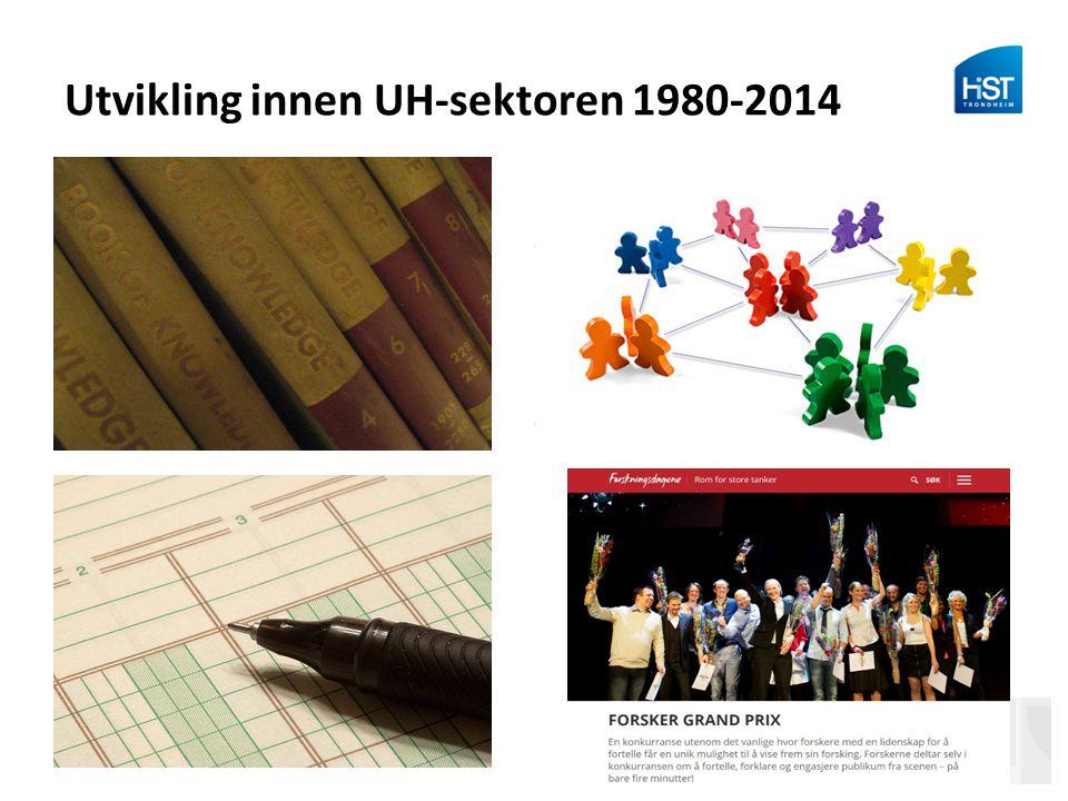 Utvikling innen UH-sektoren 1980-2014