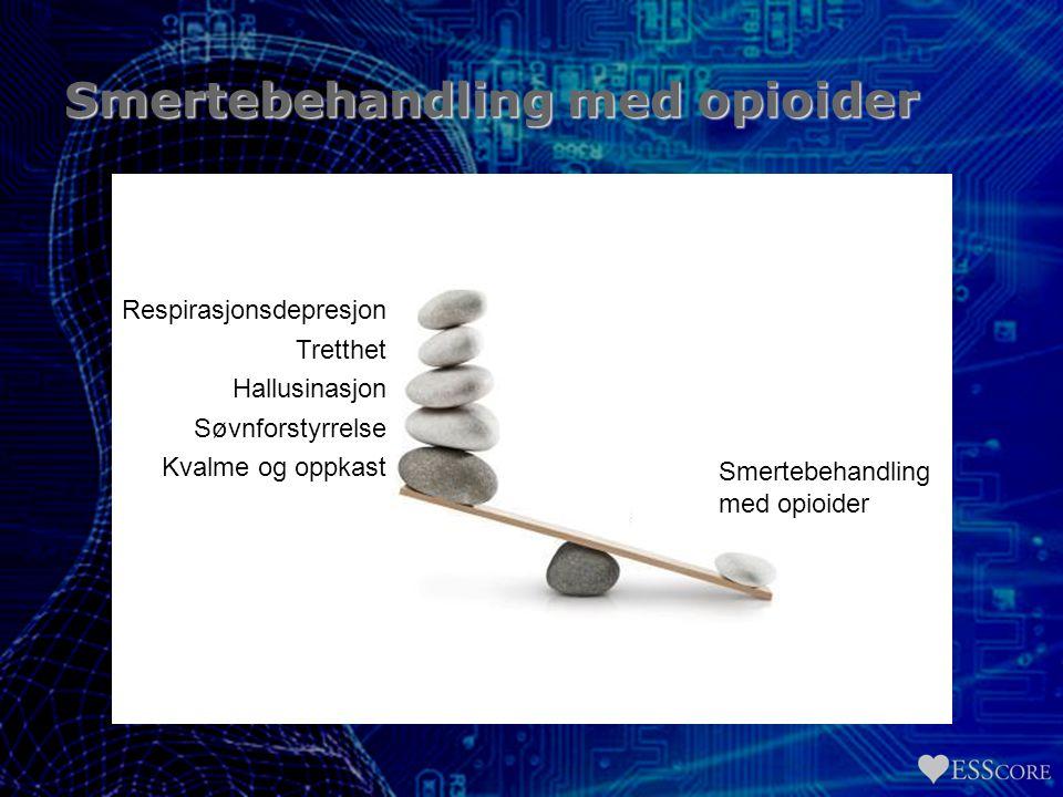 Smertebehandling med opioider Respirasjonsdepresjon Tretthet Hallusinasjon Søvnforstyrrelse Kvalme og oppkast Smertebehandling med opioider