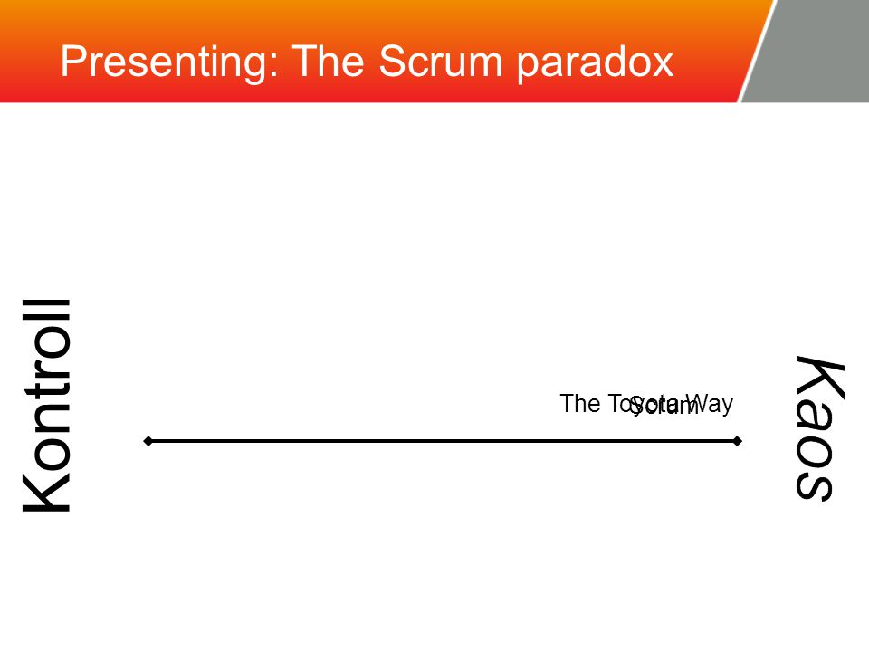 Presenting: The Scrum paradox Kontroll Scrum The Toyota Way