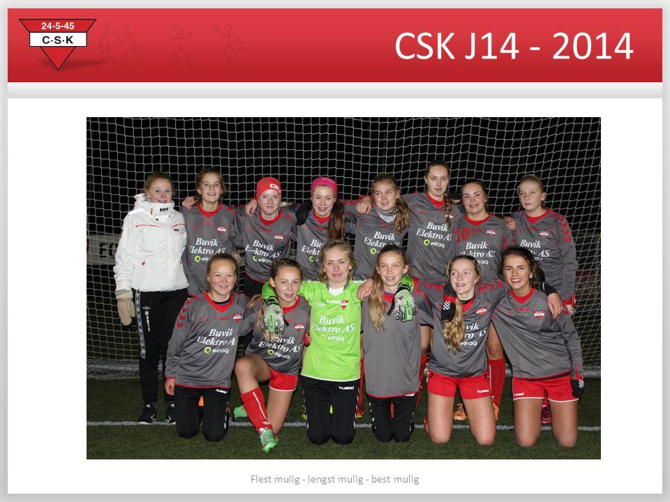 CSK J14 - 2014 Flest mulig - lengst mulig - best mulig