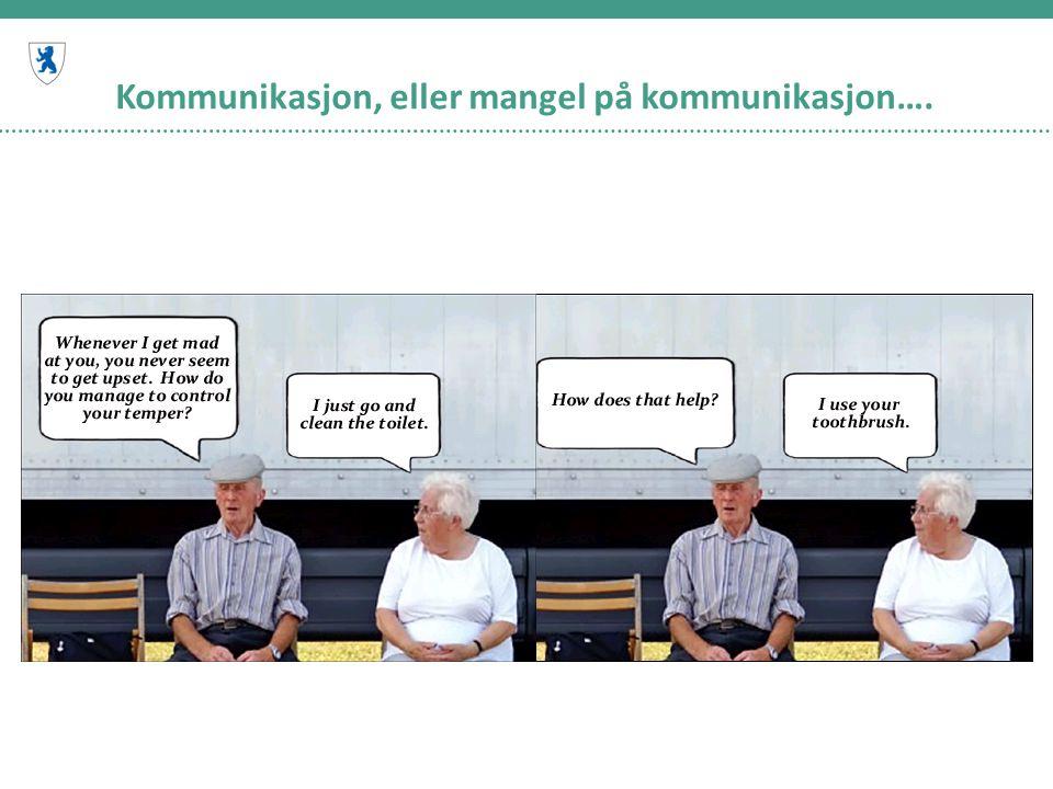 Kommunikasjon, eller mangel på kommunikasjon….