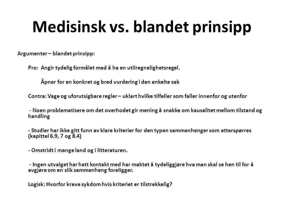 Medisinsk vs.