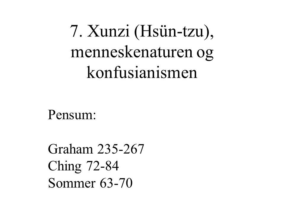 Er Xunzi uenig med Mengzi?