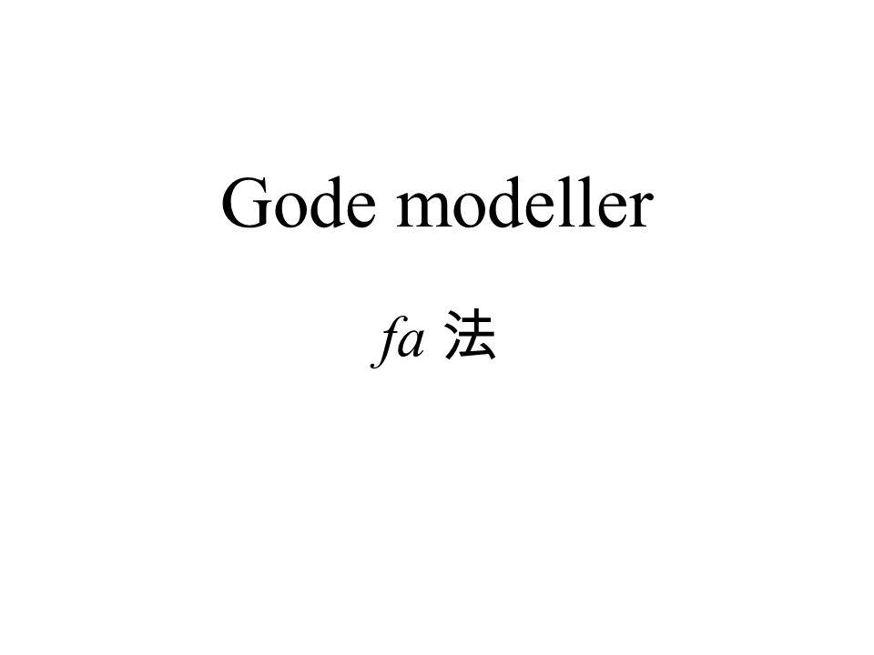 Gode modeller fa 法