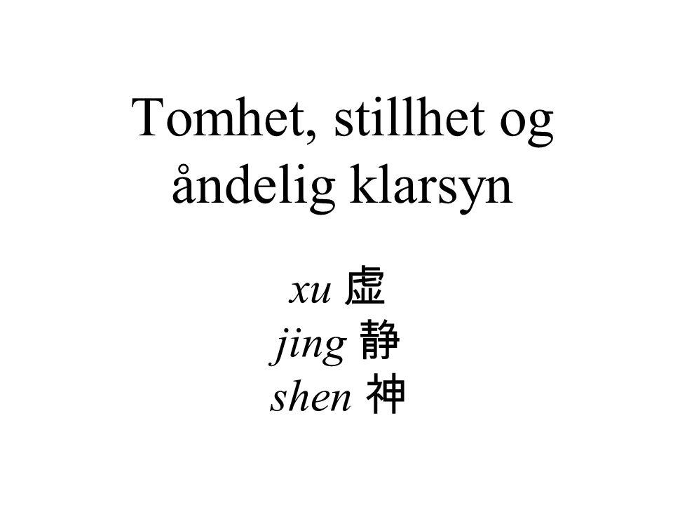 Tomhet, stillhet og åndelig klarsyn xu 虚 jing 静 shen 神