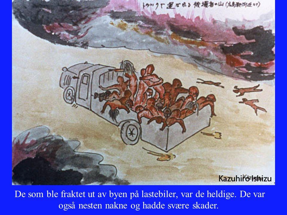De som ble fraktet ut av byen på lastebiler, var de heldige. De var også nesten nakne og hadde svære skader.